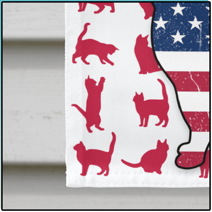 American Cat Lovers House Flag And Garden Flag11
