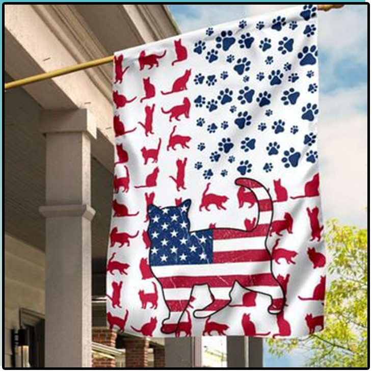 American Cat Lovers House Flag And Garden Flag5