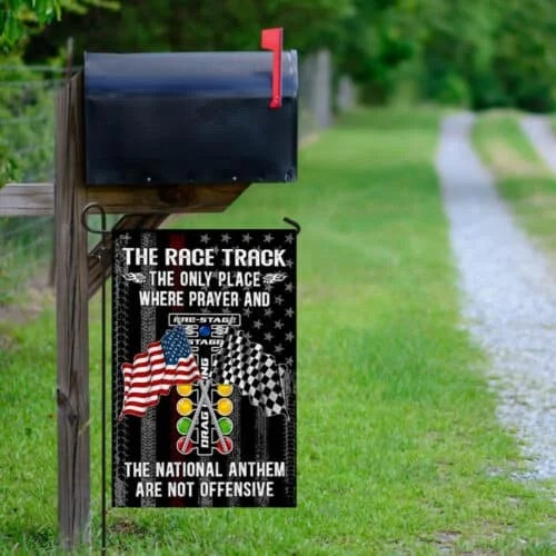 American The Race Track The Only Place Where Prayer And The National Nathem Are Not Offensive Flag2