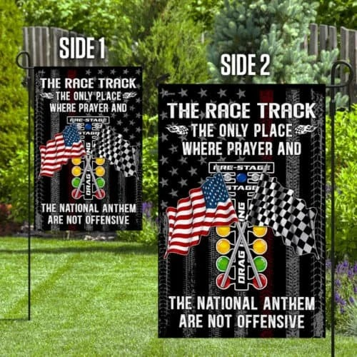 American The Race Track The Only Place Where Prayer And The National Nathem Are Not Offensive Flag3