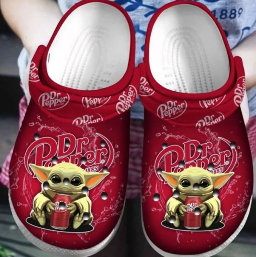 Baby Yoda Hug Dr Pepper Crocs Clog Shoes4 2 1