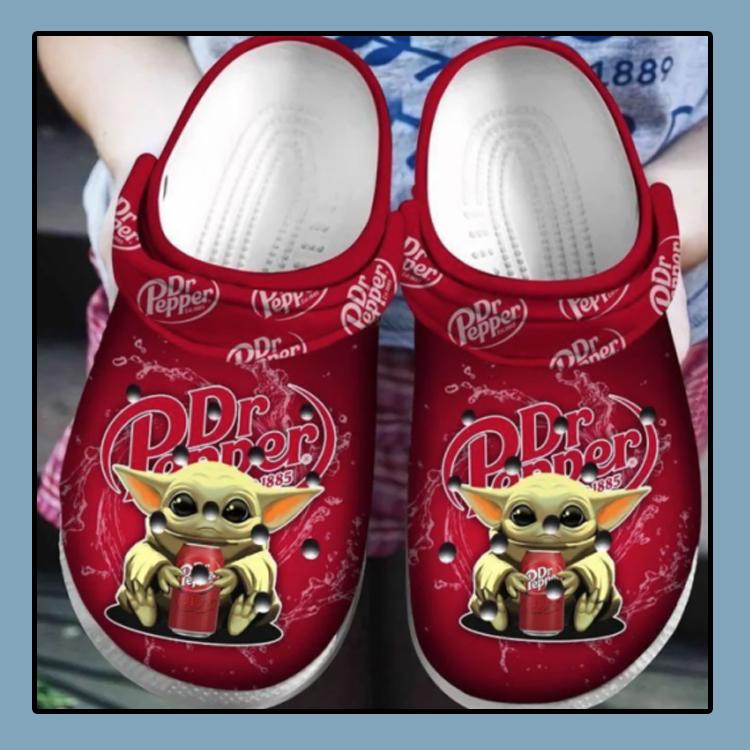 Baby Yoda Hug Dr Pepper Crocs Clog Shoes4 3 1