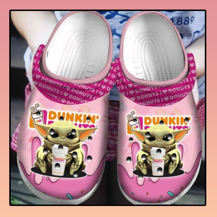 Baby Yoda Hug Dunkin Donuts Crocs Clog Shoes4 4 1
