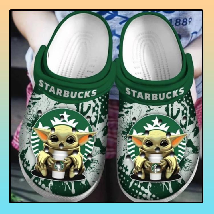 Baby Yoda Hug Starbucks Crocs Clog Shoes4 3 1