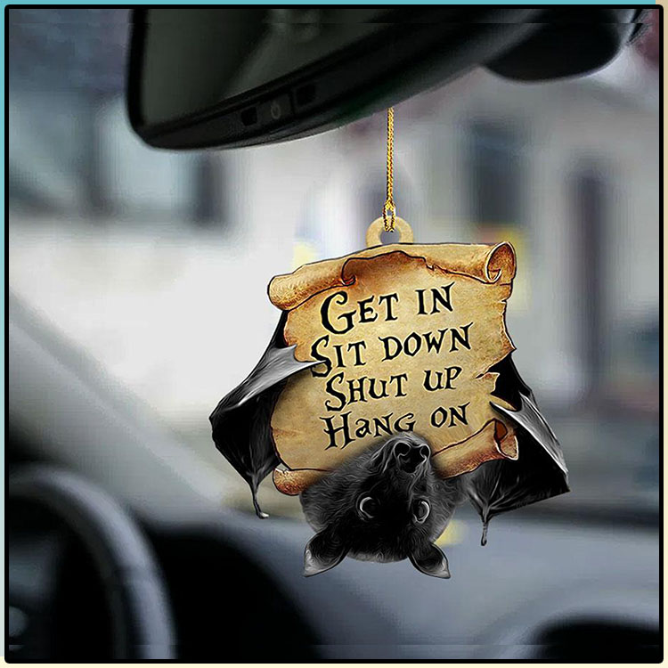 Bat Get In Sit Down Shut Up Hang On Ornament1