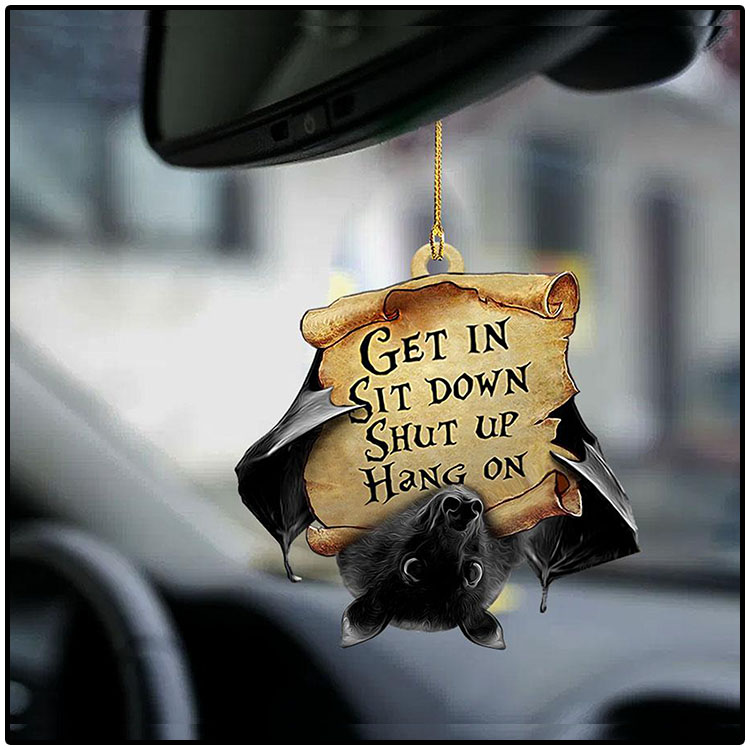 Bat Get In Sit Down Shut Up Hang On Ornament2