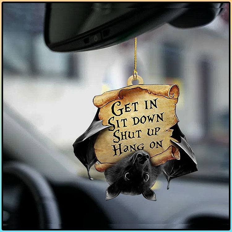 Bat Get In Sit Down Shut Up Hang On Ornament3