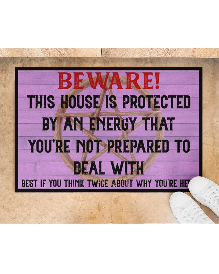 Beware This House Is Protected By An Energy That Youre Not Prepared To Deal With Doormat2 1