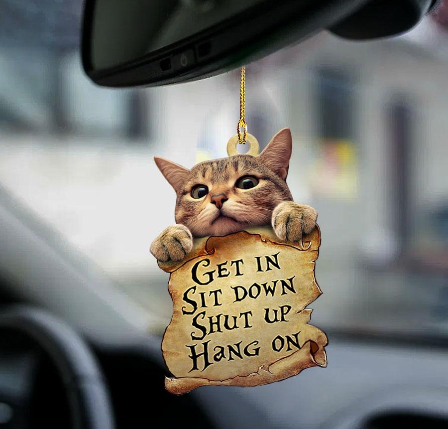 Cat Get In Sit Down Shut Up Hang On Ornament