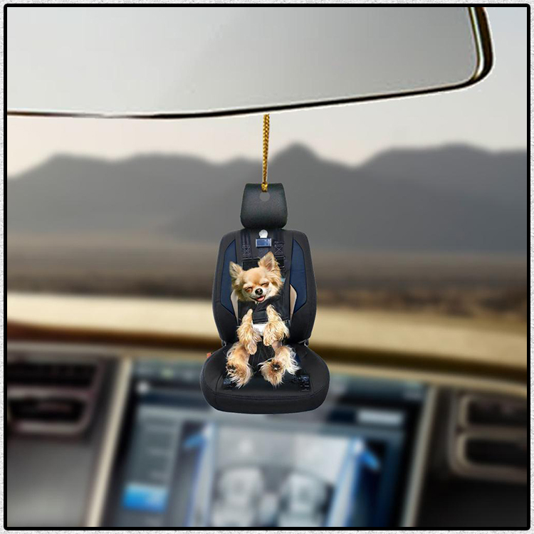 Chihuahua Car Seat Lovers Dog Moms Ornament 3 1 1