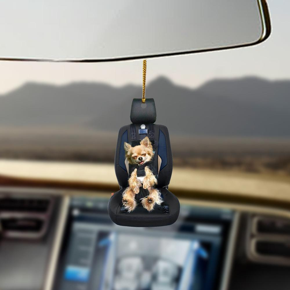Chihuahua Car Seat Lovers Dog Moms Ornament 4
