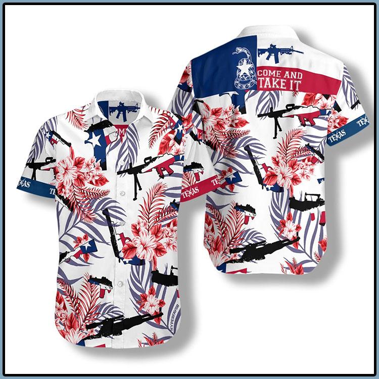 Come And Take It Texas Gun Lover FM Hawaiian Shirt