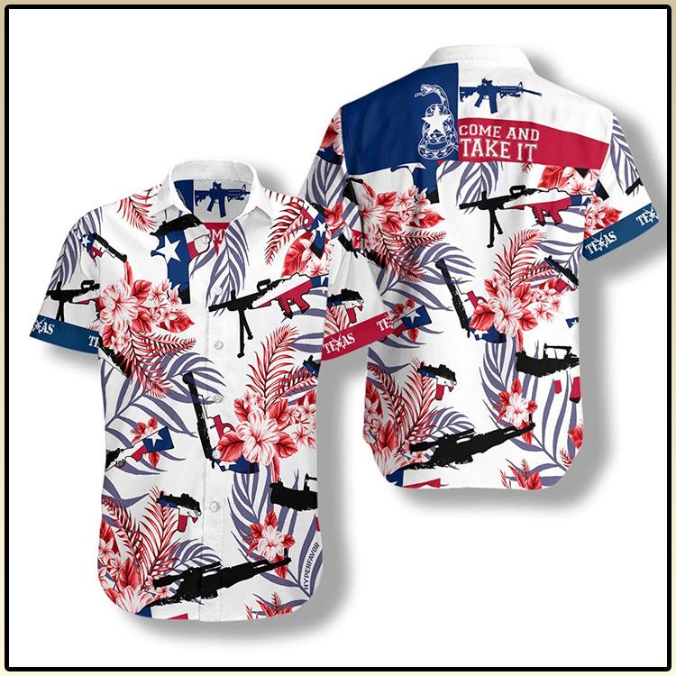 Come And Take It Texas Gun Lover FM Hawaiian Shirt1