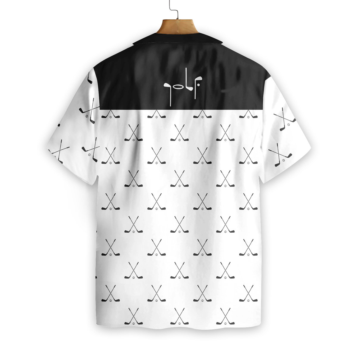 Cross Golf Clubs Pattern Hawaiian Shirt1