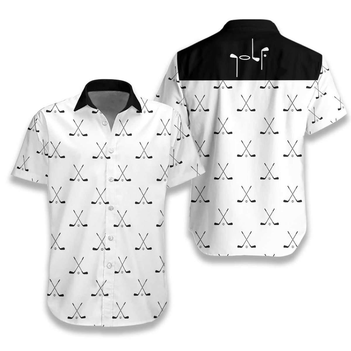 Cross Golf Clubs Pattern Hawaiian Shirt2