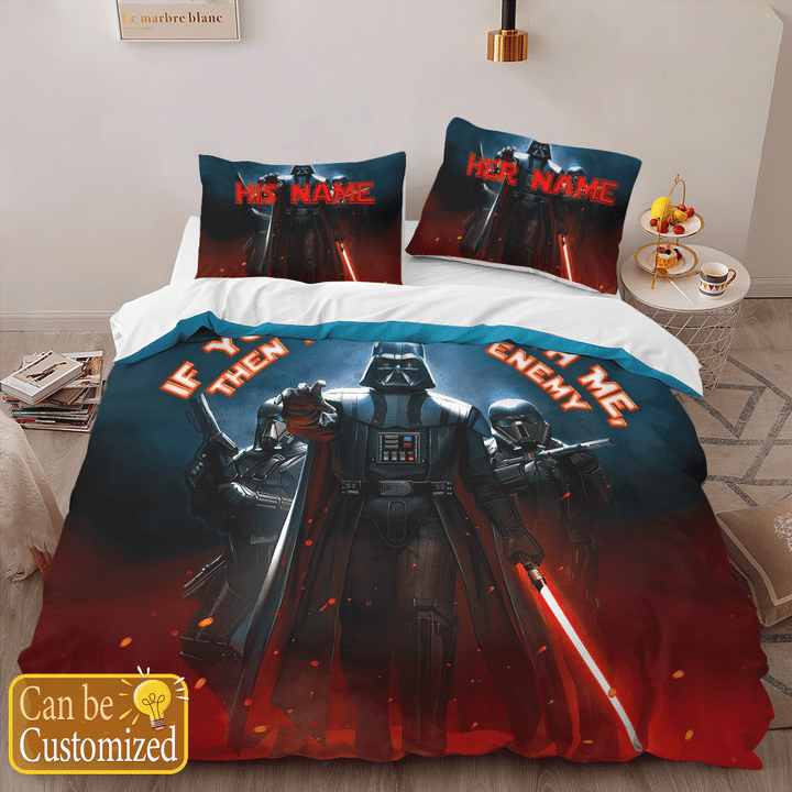 Darth Vader Youre Not With Me Then Youre My Enemy Printed Bedding Set2
