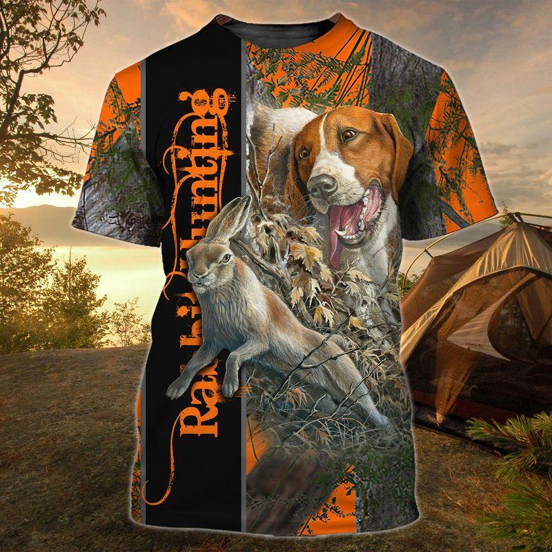 Dog Rabbit Hunting 3D all over Print hoodie shirt