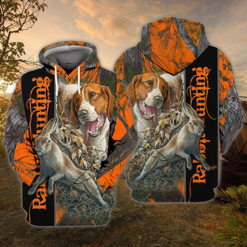 Dog Rabbit Hunting 3D all over Print hoodie shirt1