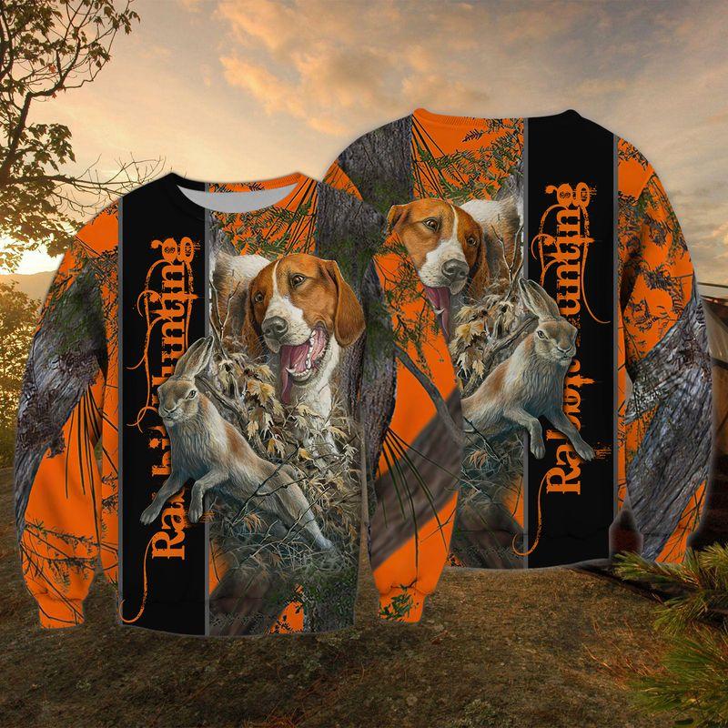 Dog Rabbit Hunting 3D all over Print hoodie shirt2