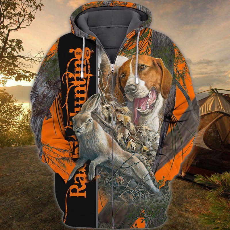 Dog Rabbit Hunting 3D all over Print hoodie shirt3