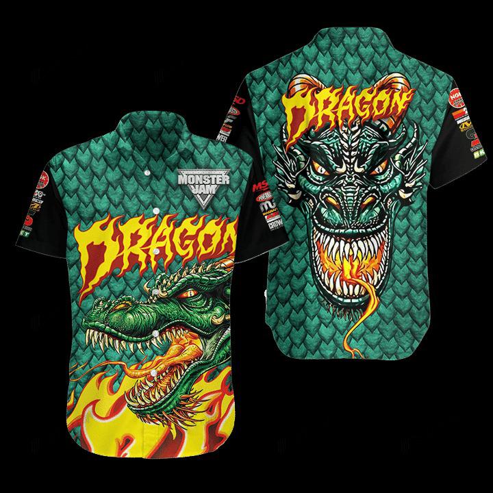 Dragon Monster Truck Hawaiian Shirt 1