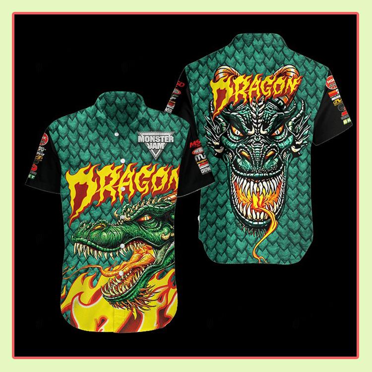 Dragon Monster Truck Hawaiian Shirt3 1