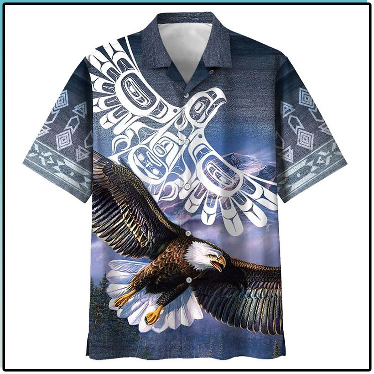 Eagle All Over Print Indigenous Hawaiian Shirt