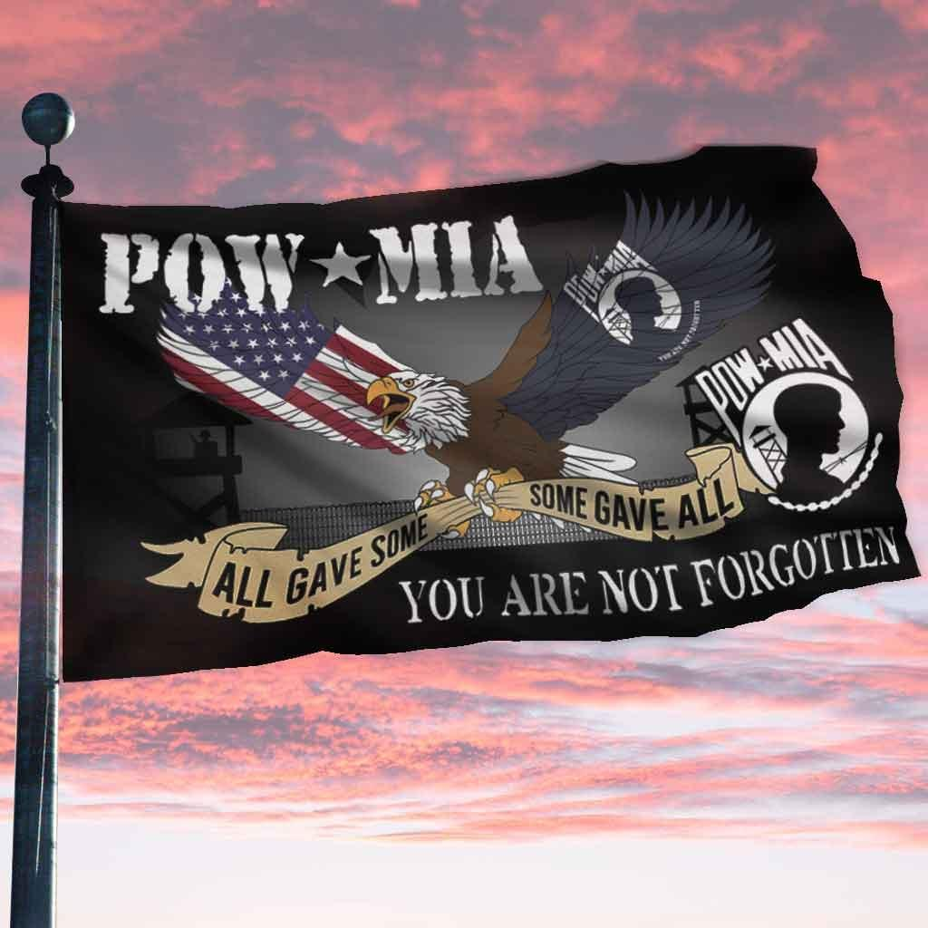 Eagle American Pow Mia All Gave Some You Are Not Forgotten Flag