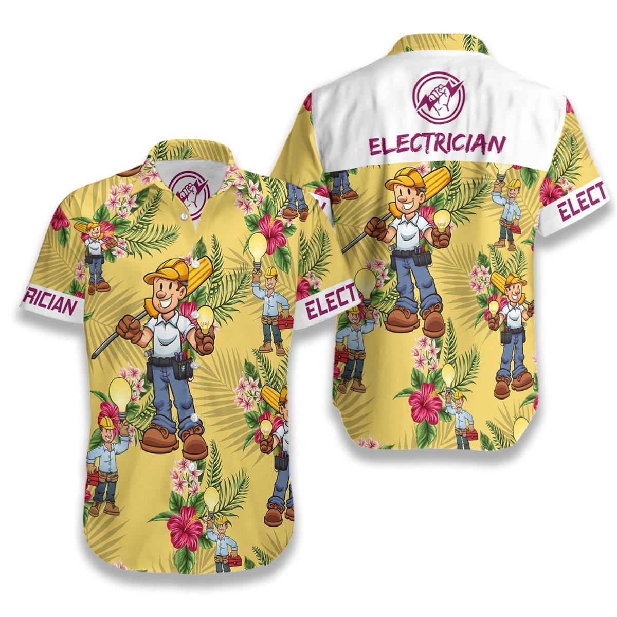 Electrician Hawaiian Shirt1