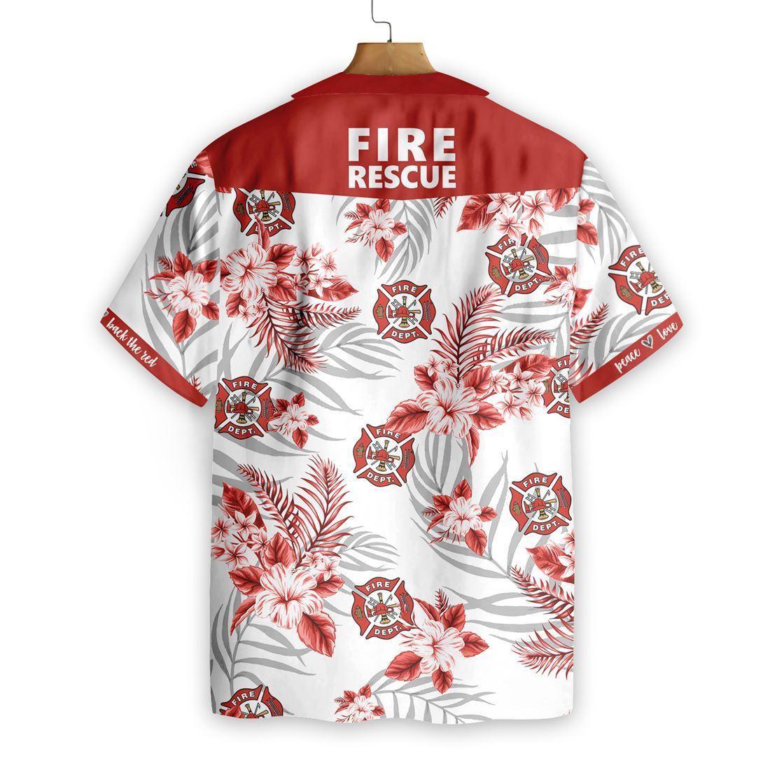 Firefighter Fire Rescue Hawaiian Shirt1
