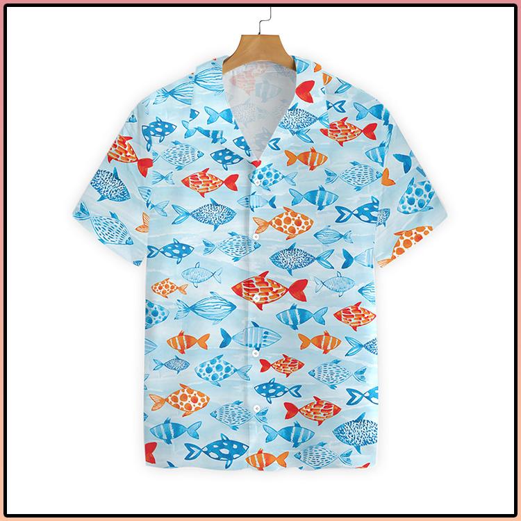 Fish Water Color Hawaiian Shirt3