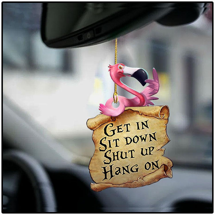 Flamingo Get In Sit Down Shut Up Hang On Ornament1