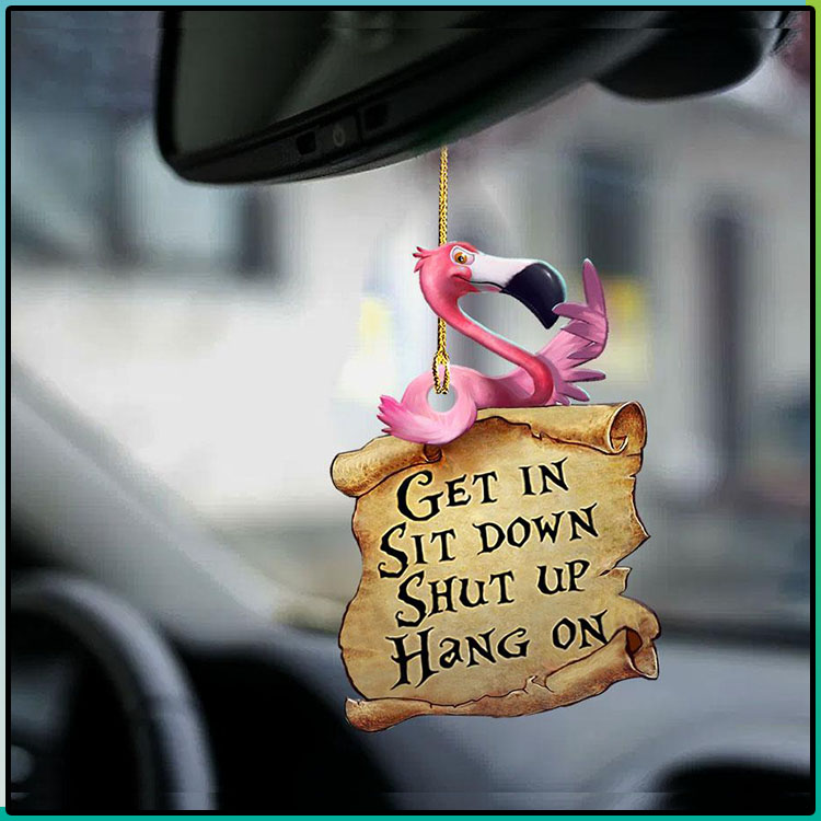 Flamingo Get In Sit Down Shut Up Hang On Ornament2