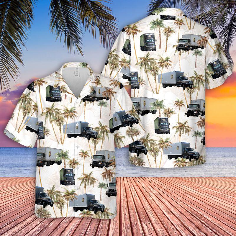 Freight Truck Hawaiian Shirt