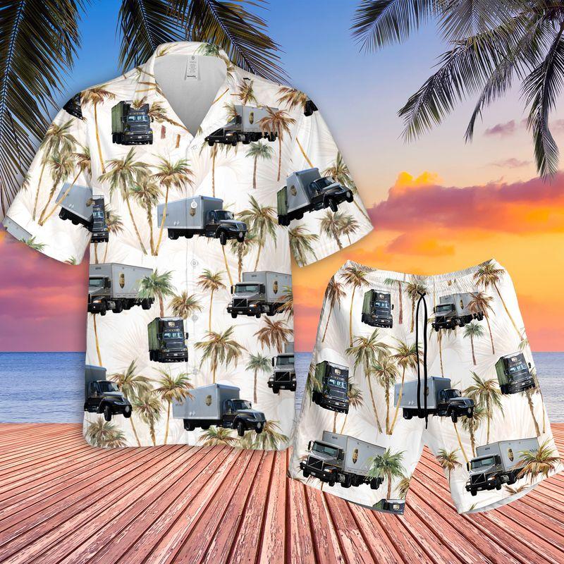 Freight Truck Hawaiian Shirt1