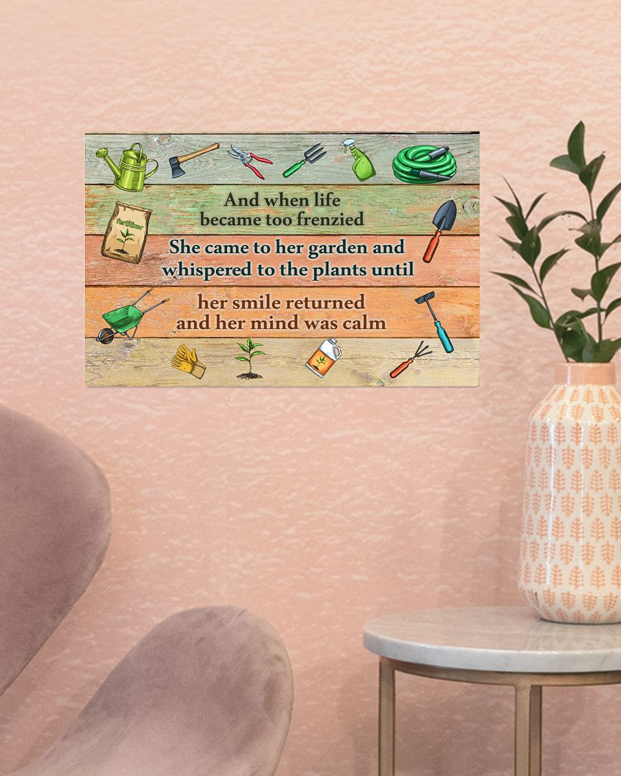 Gardening And when life became too frenzied poster256