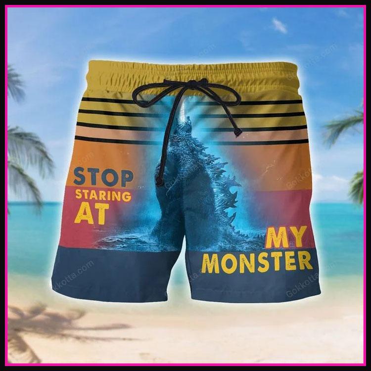 Godzilla Stop staring at my monster short pants4