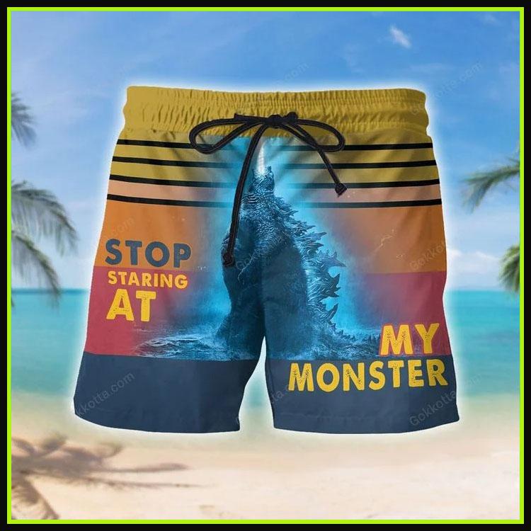 Godzilla Stop staring at my monster short pants8