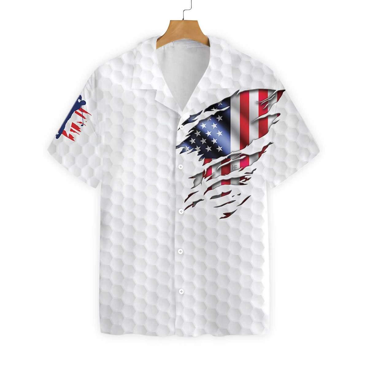 Golf American Flag Hawaiian Shirt 2