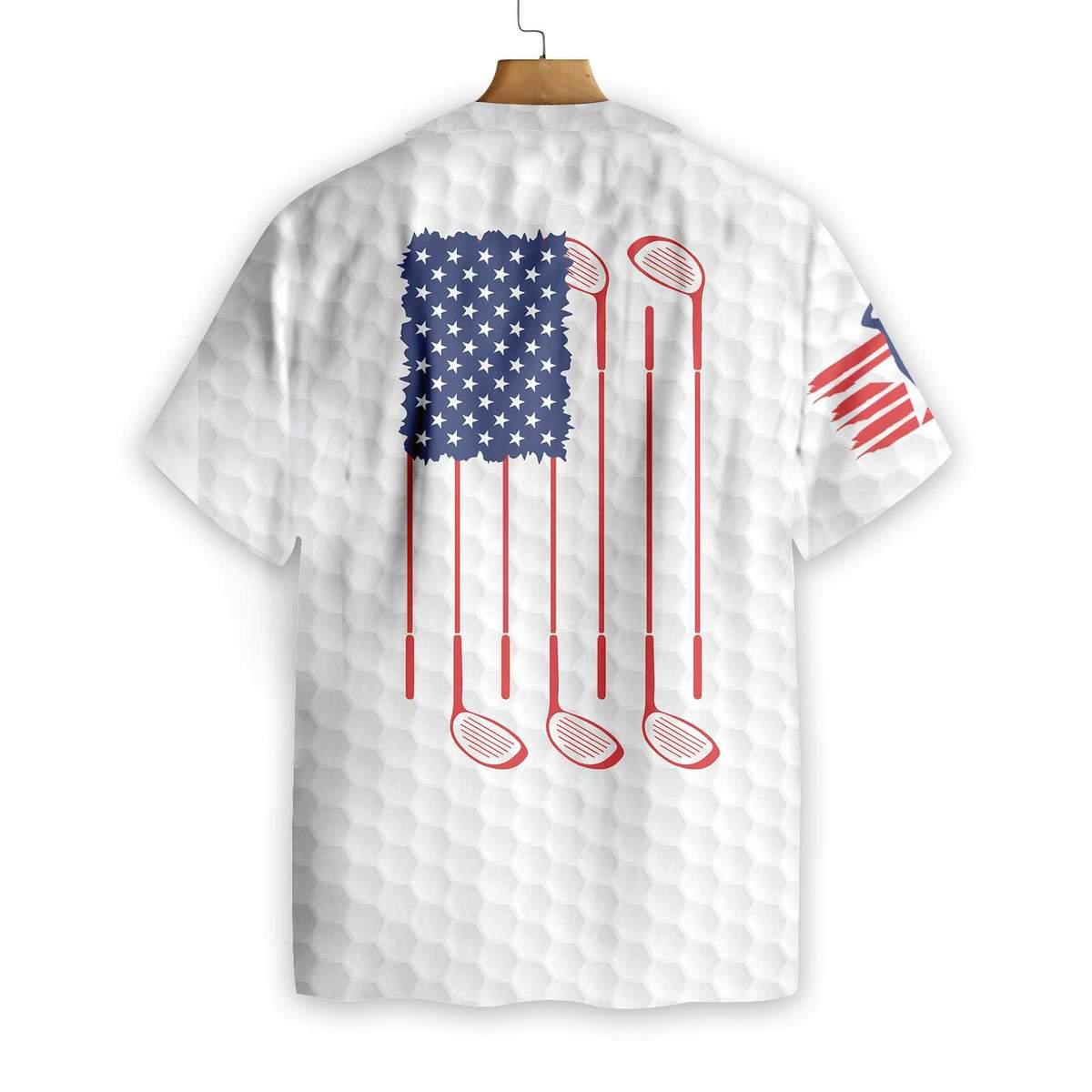 Golf American Flag Hawaiian Shirt1 1