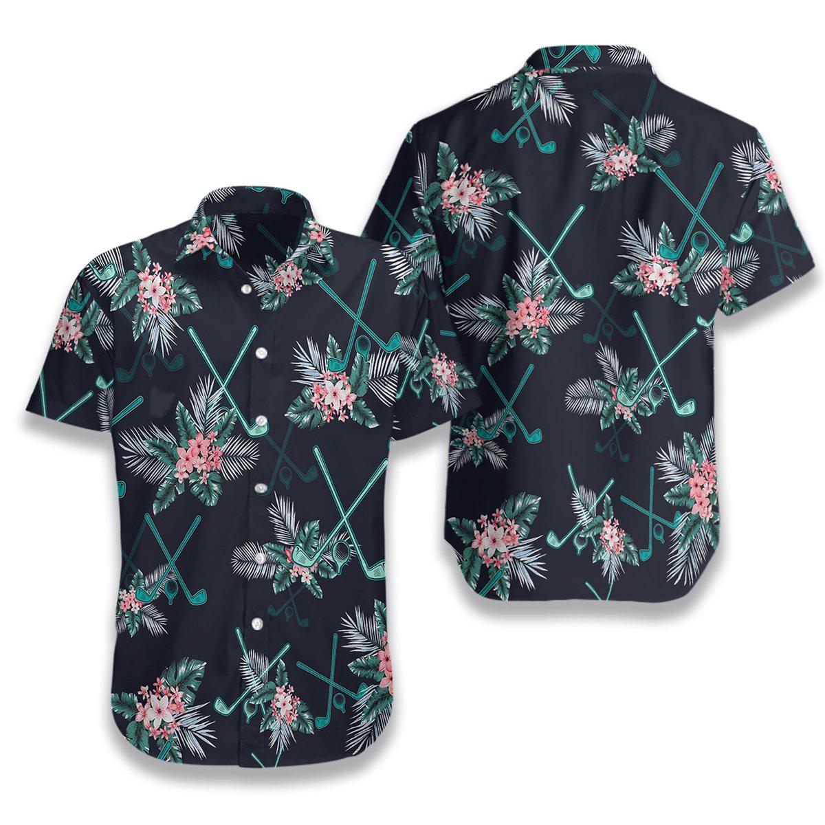 Golf Tropical Hawaiian Shirt3