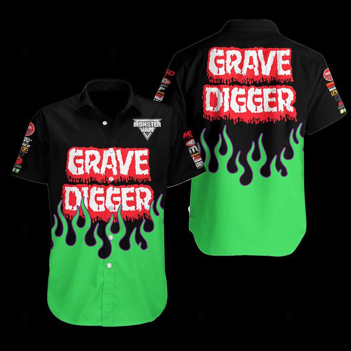 Grave Digger Hawaiian Shirt 1