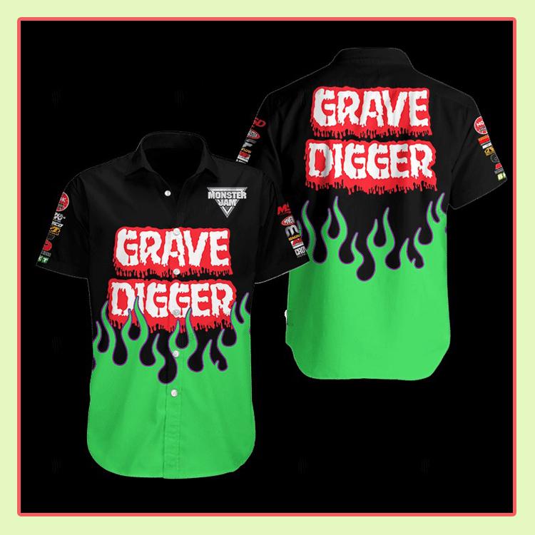 Grave Digger Hawaiian Shirt2 1
