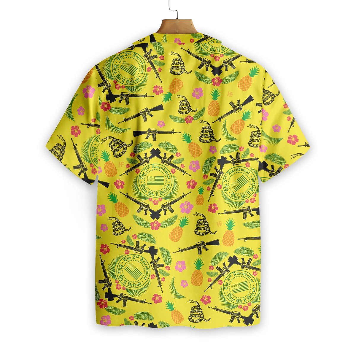 Gun 2nd Amendment Hawaiian Shirt1