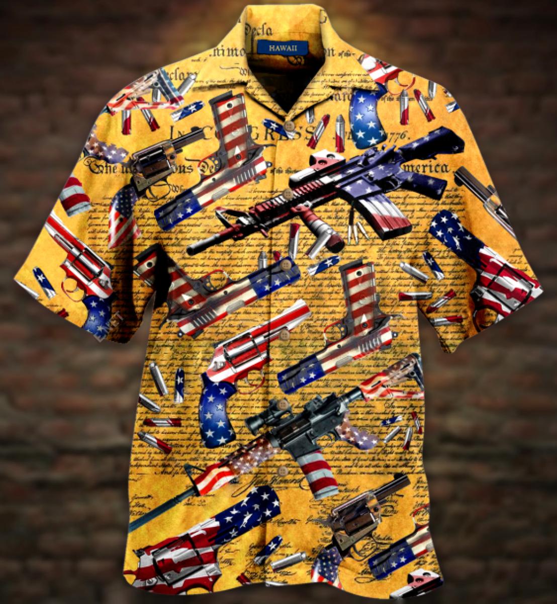 Gun Self Defense Is Our Unisex Hawaiian Shirt1
