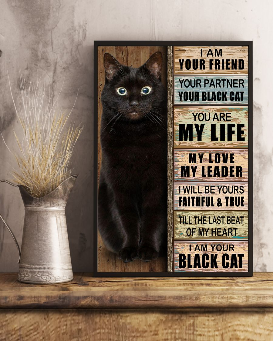 I am your friend your partner your black cat you are my life poster3