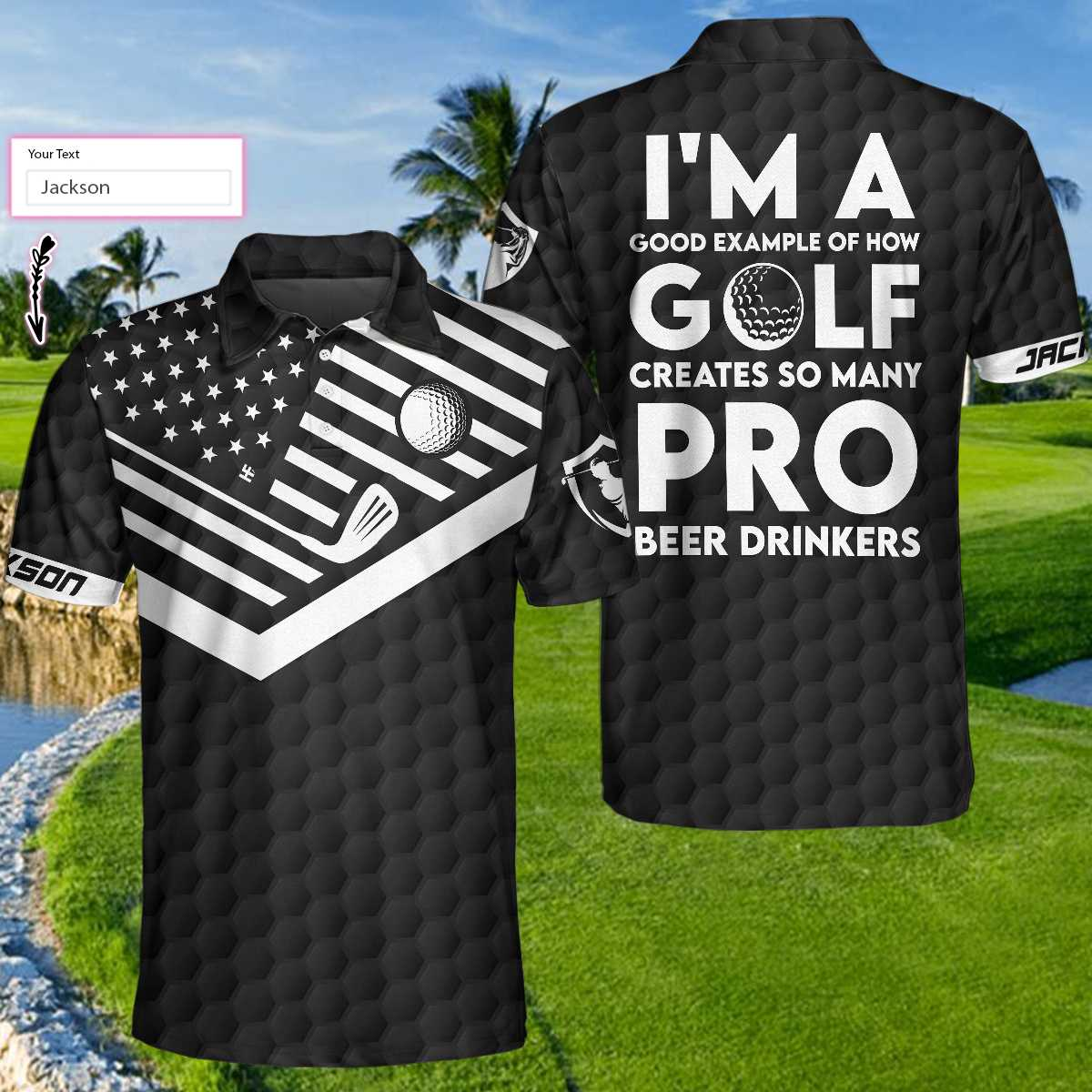 Im A Good Example Of How Golf Creates So Many Pro Beer Drinkers Polo Shirt