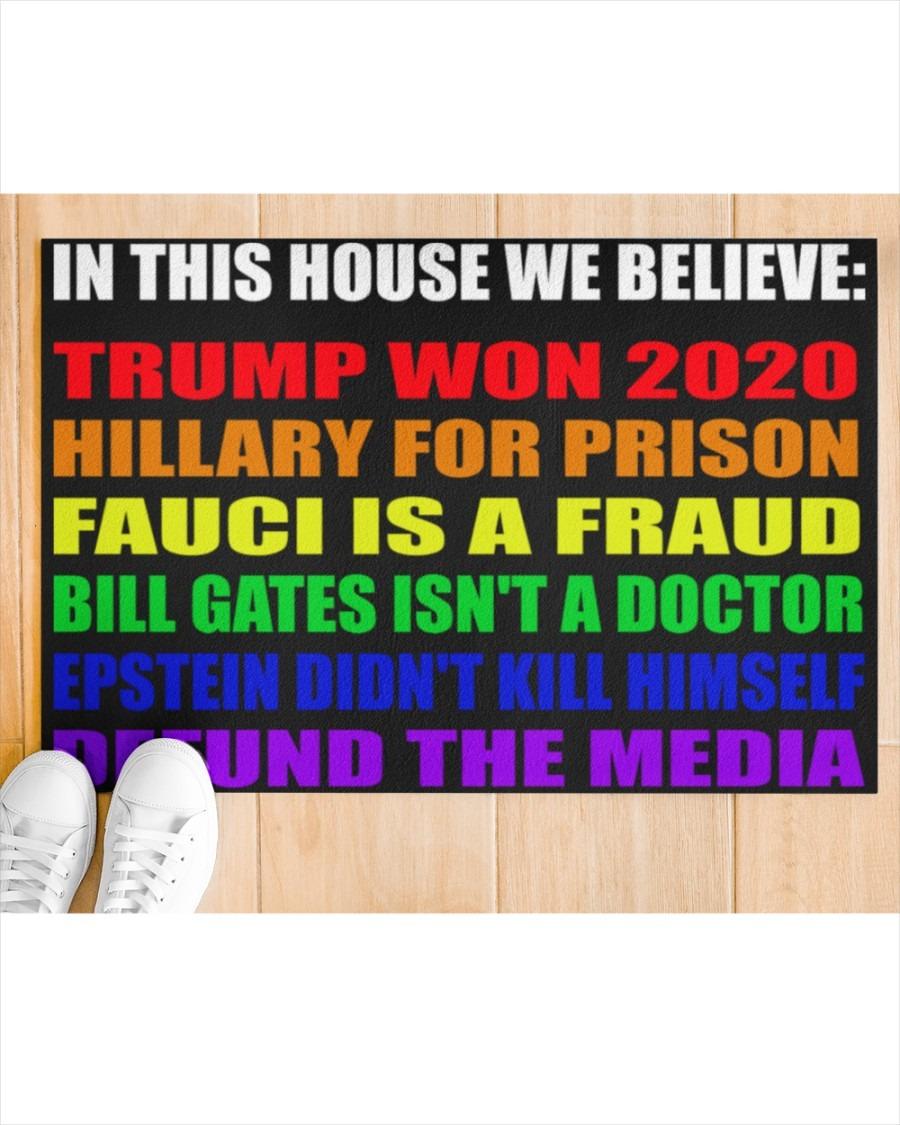 In this House We Believe Trump Won 2020 Doormat2