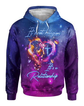 Its Not Religion Its A Relationship I Can Only Imagine 3d Hoodie