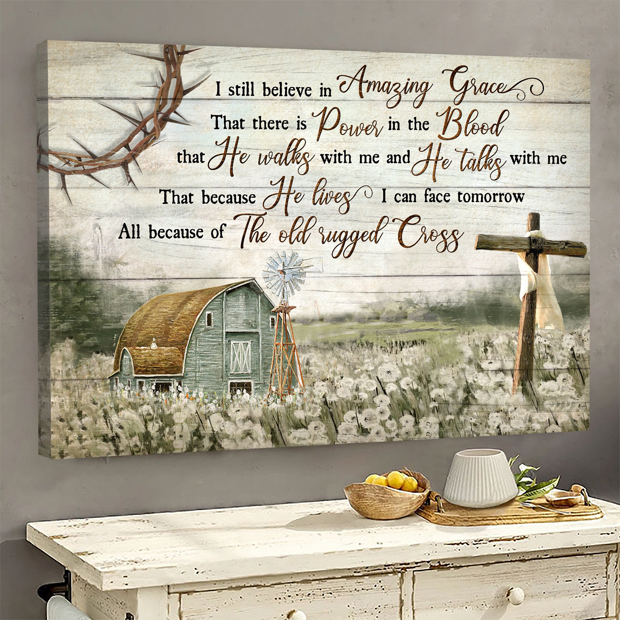 Jesus Landscape I Still Believe In Amazing Grace That There Is Power In The Blood